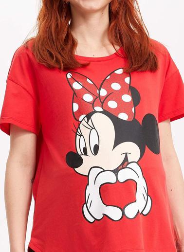 DeFacto Disney Lisanslı Hamile T-shirt Kırmızı